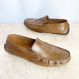Clarks Mens Driving Shoes 9 M Brown Moccasins